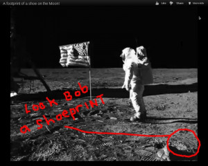 ... How minutely detailed the fake moon landing was. on 11/4/2012, 3:15 pm