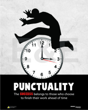 click to enlarge punctuality the designer poster series punctuality is ...