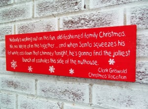 Vacation movie quote sign package, funny christmas decoration, funny ...