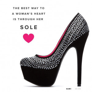 Love the shoe ~ Love the quote