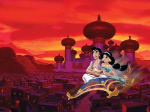 Aladdin wallpaper for aladdin and jasmine