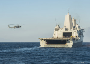 ... operations on April 25, 2015, in the Philippines Sea. US Navy photo