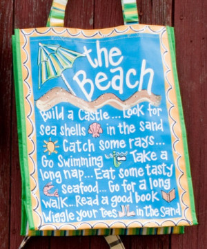 Fun beach tote.beachcombing, shells, shelling, DIY, pallet, pallet ...