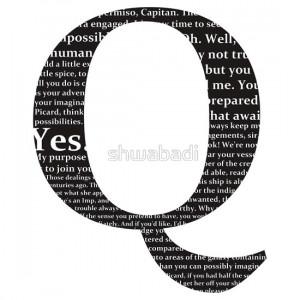 shwabadi › Portfolio › Star Trek - 'Q' Quotes (Black Background)