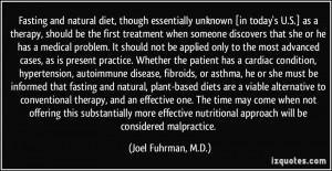 Joel Fuhrman, M.D. Quote