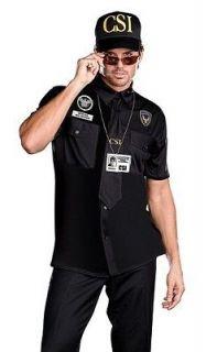 Sexy Funny Mens CSI Cop Police Detective Halloween Costume