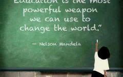 inspirational education quotes nelson mandela wallpaper