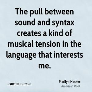 Marilyn Hacker Quotes