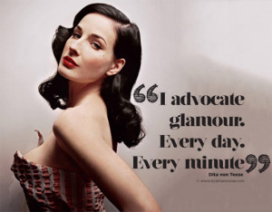 advocate glamour. Every day. Every minute""