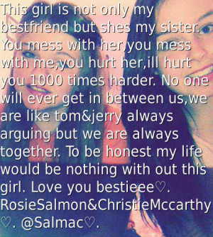 mess with her you mess with me you hurt her ill hurt you 1000 times ...