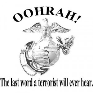marines oohrah for your automobile semper fi red united states