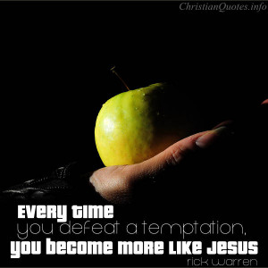 Rick Warren Quote – Defeat a Temptation
