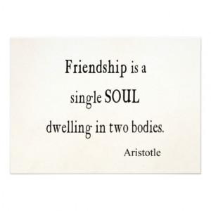 Vintage Aristotle Friendship Single Soul Quote Personalized ...
