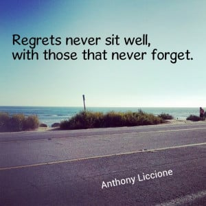 ... never sit well, with those that never forget.