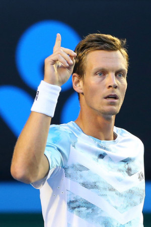 Tomas Berdych Tomas Berdych of the Czech Republic looks on in his