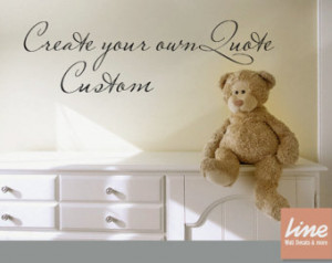 for custom wall quotes on etsy custom wall quote decal