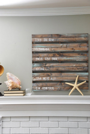 But around the blogosphere, I've seen everything from pallet artwork ...