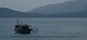 Vietnam boat with quote