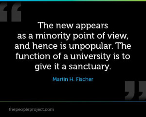 The new appears as a minority point of view, and hence is unpopular ...