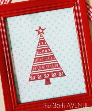 the printable and tutorial for this adorable dry erase advent calendar ...