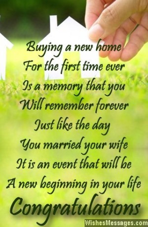 New home poems: Congratulations poems for new home