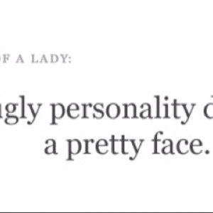 Ugly personality
