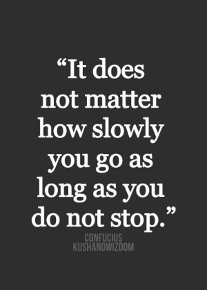 daily inspiration it does not matter how slowly you go