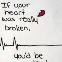 funny broken heart quotes photo: If Your Heart Was Really Broken Funny ...