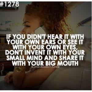 Mind ya own business!