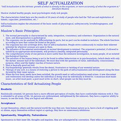 maslow self actualized essay Identity and self -actualization being self-actualized means that an individual knows who they are and abraham harold maslow and self-actualization essay 906.