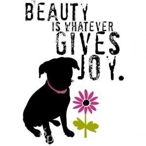 Black Mutt Inspirational Beauty Quote Dog Art Print Inspirational Wall ...