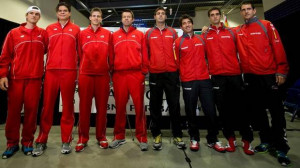 ... Davis Cup tennis tie in Vancouver, B.C., on Thursday January 31, 2013