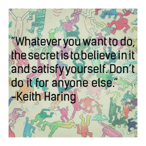 Keith Haring quote with artwork from a workshop of Art Relief ...