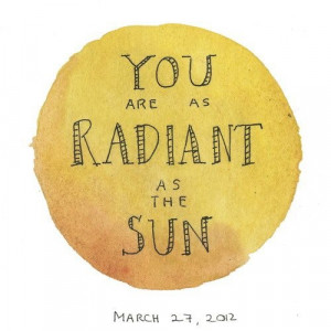 You are as radiant as the sun #quote #beijobags