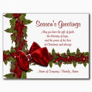 Business Christmas Card Sayings