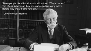 Oliver Wendell Holmes quote wallpaper