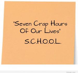 Funny school quote image