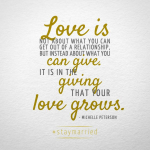 ... you can give... quote on #staymarried blog about long lasting marriage
