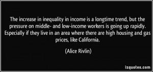 The increase in inequality in income is a longtime trend, but the ...