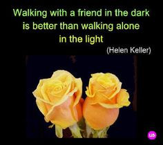 rose saying | Yellow Roses with Helen Keller Quotation Card More