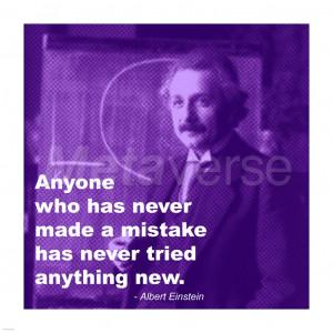 Einstein Try Something New Quote art print