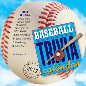 Baseball Trivia Desk Calendar