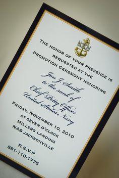Digital File Navy Promotion Invitation / by starsandstripe More
