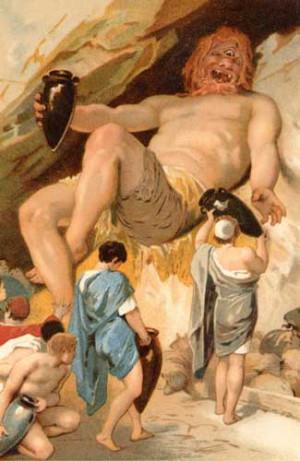 Cyclops. From: http://www.mlahanas.de/Greeks/Mythology/GreekMonsters ...