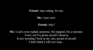 quotes about cutting yourself tumblr Stop Cutting Quotes