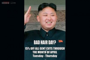 North Korean agents tell a London hairdresser to remove Dear Supreme ...
