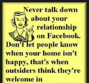 Never Talk Down About relation
