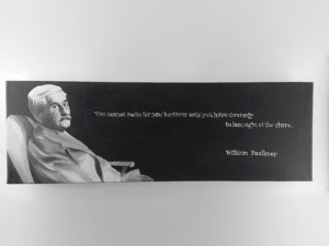 William Faulkner Quote- Southern Quotation Author Literary Black Wall ...
