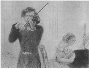 Joseph Joachim and pianist Clara Schumann. Joachim and Schumann ...