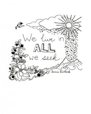 11x14 Annie Dillard quote - signed